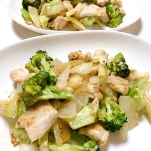 鶏とブロッコリーのマヨネーズ炒め