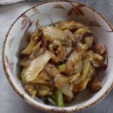 なす玉ねぎアスパラ味噌炒め