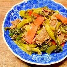 ザーサイの葉と牛肉☆炒め煮