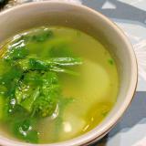 菜の花と小カブのスープ