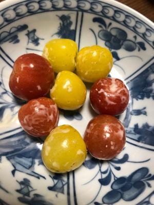 黄色と赤トマトの手作りマヨ和え
