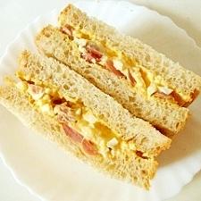 ウインナーたまごサンドイッチ