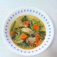 ☆たっぷり野菜のピリ辛中華スープ☆