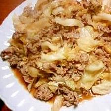 ※※ニンニク味噌風味・キャベツの豚肉炒め※※