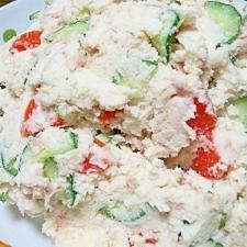 塩麹とおからで栄養満点♪簡単ヘルシーポテトサラダ