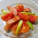 甘酸っぱい!ウインナーとアスパラのトマト炒め