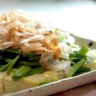 レンジでチン♪ニラマヨ豆腐