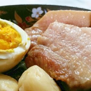 角煮風にんにく入り豚バラ煮込み