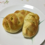 カレー風味の鶏ハムのパン