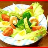 ポン酢マヨネーズで作るマスタード風味の主役サラダ♪