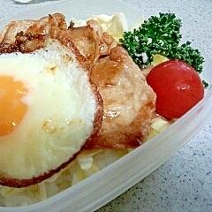 ガッツリ肉弁☆目玉焼きのせ◎