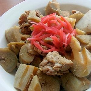 お腹にも❤豚肉の生姜煮を根菜一緒で♪(新牛蒡ほか)
