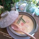 うどん入りでボリューミー♪簡単美味しい茶碗蒸し♪