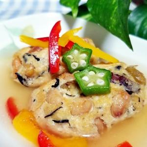肉なしヘルシー☆豆腐とお豆の揚げハンバーグ