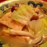 厚揚げと白菜のうま煮 中華風