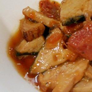 カツオのたたきリメイク 生姜梅煮