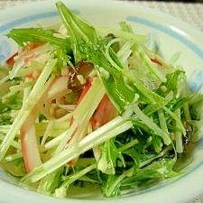 カンタン☆大根と水菜の塩麹キノコマヨサラダ☆