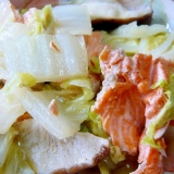 ❤ 胡麻香る! 白菜&椎茸&鮭のアラの煮物 ❤