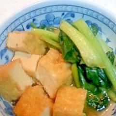 小松菜と厚揚げの煮もの カレー風味