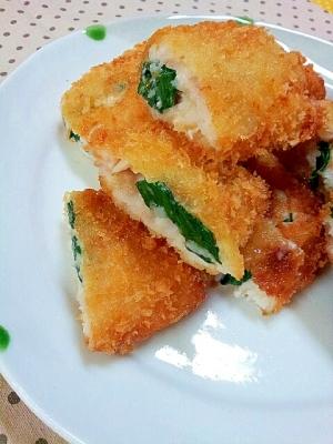 ✿白身魚のほうれん草とチーズ入り❤フライ