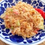魚肉ソーセージのウマウマレタスチャーハン