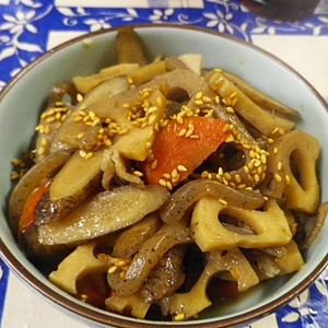 根菜のイトコン豚煮