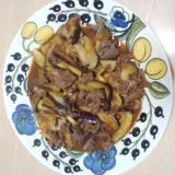 茄子と牛肉の超簡単炒め