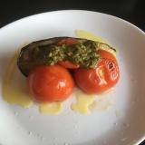 夏野菜で栄養補給!ナスとトマトのオーブン焼き