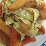 フライドポテトと野菜のケチャップ炒め