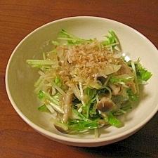 水菜としめじの寒天サラダ