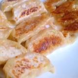 カルシウム強♪桜エビとキャベツのとろけるチーズ餃子