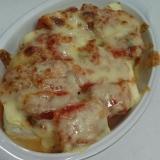 楽々1品!豆腐とキムチのチーズ焼き!