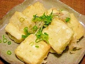 カリッと衣☆フライパンで豆腐天