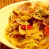 さっぱり美味しい!アサリとバジルのスパゲティ