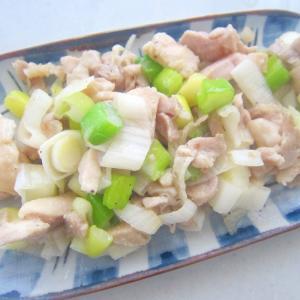 鶏もも肉と葱と塩のたれの焼き鳥グリル