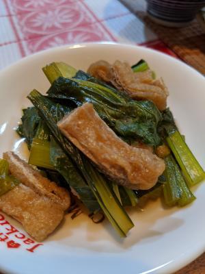 簡単♪やさしい♡小松菜と油揚げの煮浸し