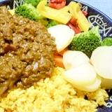 トマト缶使用♪ひき肉の夏野菜カレー