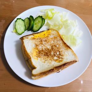 フライパンで簡単♪ハムエッグチーズトースト