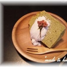 お花見気分、第2弾です・・・桜シフォンケーキ☆