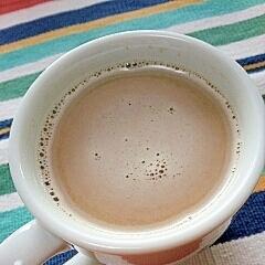 ホッと☆生姜湯でジンジャーきなこカフェオレ♪