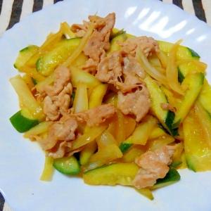 豚肉と胡瓜のドレッシング炒め