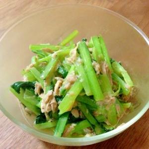 小松菜とツナの炒め