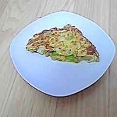簡単☆納豆とえだまめ蓮根の卵焼き