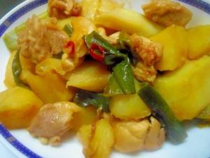 鶏肉とじゃがいもの炒め煮