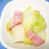レンジで簡単蒸し白菜