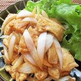 ご飯がすすむ!鶏むね肉と新玉ねぎの生姜焼き