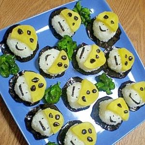 浮遊中♪キイコドモダケの一口しんこ寿司