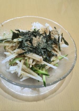 居酒屋の味! 大根ときゅうりのサラダ
