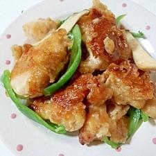 鶏とエリンギ&ピーマンの炒め物
