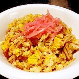 筍の食感が美味しい「筍炒飯」